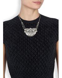 Ben-Amun - Metallic Silver Tone Swarovski Crystal Embellished Necklace - Lyst