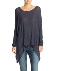 Free People - Blue Chasing Your Shadow Hacci Top - Lyst