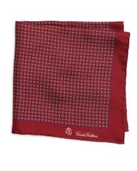 Brooks Brothers - Red Micro Pine Print Pocket Square for Men - Lyst