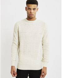 Bellfield - Natural Akrane Jumper Cream for Men - Lyst