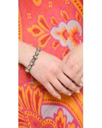 Deepa Gurnani - Metallic Crystal Encrusted Bracelet - Lyst
