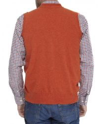 Jules B - Orange Mens Geelong Lambswool Waistcoat for Men - Lyst