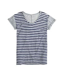 J.Crew - Blue Vintage Cotton Colorblock Stripe Tee - Lyst