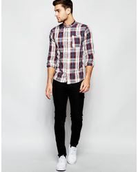 Blend | Red Shirt Box Slim Fit Check One Pocket for Men | Lyst
