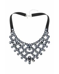 TOPSHOP | Metallic Rhinestone Fabric Collar | Lyst