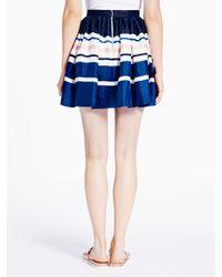 kate spade new york - Blue Stripe Cupcake Skirt - Lyst