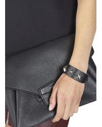 Givenchy | Black Star Leather Cuff | Lyst
