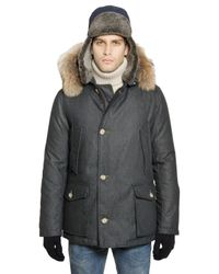 Woolrich - Blue Techno Denim Arctic Anorak for Men - Lyst
