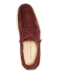 John Varvatos - Purple Schooner Boat Shoes for Men - Lyst