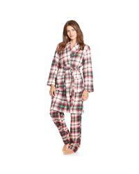 Ralph Lauren - Pink Plaid Shawl-collar Robe - Lyst
