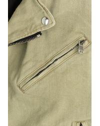 Balmain - Natural Cotton Biker Jacket - Beige for Men - Lyst