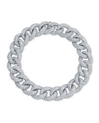 Anne Sisteron | Metallic 14kt White Gold Diamond Luxe Chain Link Bracelet | Lyst