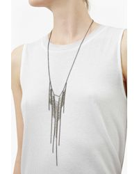 French Connection | Metallic Laddered Fringe Necklace | Lyst