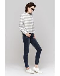 J Brand | Blue Maria High Rise Crop | Lyst