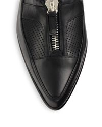 Tabitha Simmons | Black Creatures Of The Wind Leather Leather Chain Loafers | Lyst