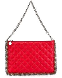 Stella McCartney - Red Falabella Quilted Faux-Leather Shoulder Bag - Lyst