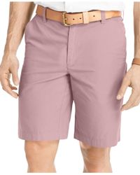 Izod | Green Flat-front Seaside Poplin Shorts for Men | Lyst