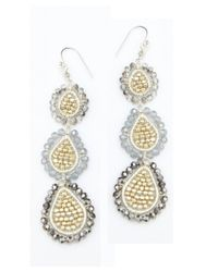 Nakamol | Multicolor Three Tier Earrings-grey | Lyst