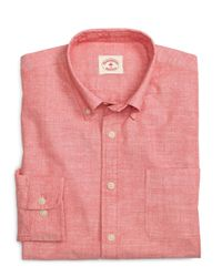 Brooks Brothers | Red Chambray Sport Shirt for Men | Lyst
