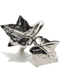 Alexander McQueen - Metallic Ivy Ring - Lyst