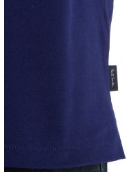 Paul Smith | Blue Zebra Regular Fit Logo Polo for Men | Lyst
