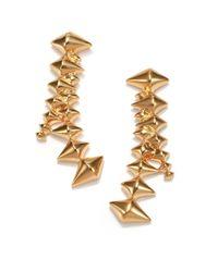 Eddie Borgo - Metallic Zip Drop Earrings - Lyst