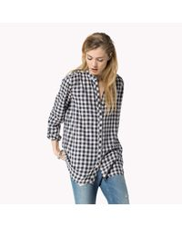 Tommy Hilfiger - Blue Cotton Viscose Check Shirt - Lyst