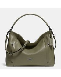 COACH | Green Scout Pebbled-Leather Hobo | Lyst