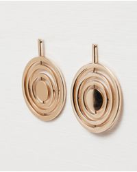 Zara | Metallic Circle Design Earrings | Lyst