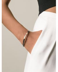 Chloé | Metallic Thin Logo Bangle | Lyst