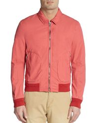 Burberry Brit - Orange Kimpton Bomber Jacket for Men - Lyst
