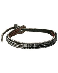 Chan Luu | Black Adjust Beaded Pattern Single Bracelet | Lyst