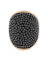 Henri Bendel | Black Bendel Rox Signet Ring | Lyst