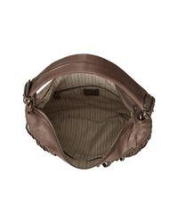 Frye | Gray Heidi Fringe Leather Bucket Bag | Lyst