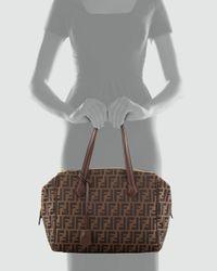 Fendi - Brown Zucca Triple-Zip Baulotto Bag - Lyst