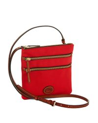 Dooney & Bourke | Red North South Triple Zip Crossbody | Lyst
