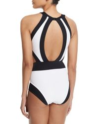 OYE Swimwear - Multicolor Holly High-neck Cut-out One-piece Swimsuit - Lyst