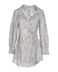 Ermanno Scervino - Gray Shirt - Lyst