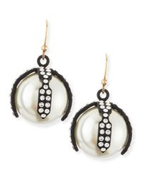 Lulu Frost | White Decade Simulated Pearl Earrings | Lyst