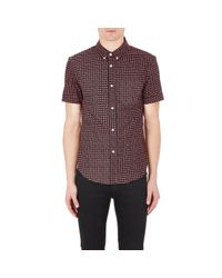 Band of Outsiders | Multicolor Men's Eye-pattern Short-sleeve Shirt for Men | Lyst