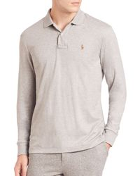 Polo Ralph Lauren | Gray Cotton Polo for Men | Lyst