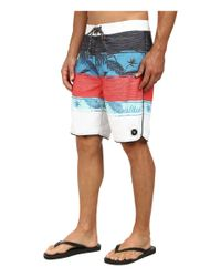 Rip Curl | Red All Time Printed Walkshorts for Men | Lyst
