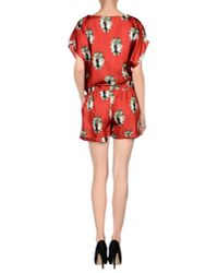 Shirtaporter - Red Jumpsuit - Lyst