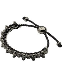 Links of London | Black Skull Sterling Silver Friendship Bracelet | Lyst