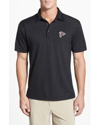 Cutter & Buck | Black 'atlanta Falcons - Genre' Drytec Moisture Wicking Polo for Men | Lyst