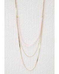 Forever 21 - Pink Layered Bead Necklace - Lyst