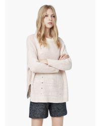 Mango | Pink Chunky-knit Sweater | Lyst