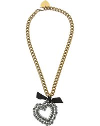 Lanvin - Metallic Mira Gold-Tone Crystal Necklace - Lyst