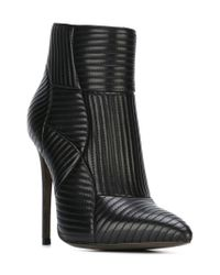 Gianni Renzi - Black Quilted Ankle Boots - Lyst