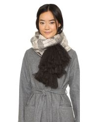 kate spade new york | Gray Woodland Plaid Scarf | Lyst